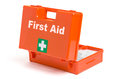 First aid kit on a white background Stock Photo