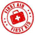 First aid rubber stamp