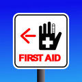 First aid sign Stock Photo