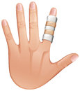 A first aid treatment on a finger illustration of white background Royalty Free Stock Photos