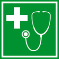 First aid vector sign green Stock Image