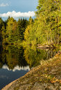 image photo : First autumn days by a lake