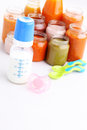 First baby food Royalty Free Stock Photo