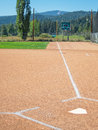First base line, from home plate Royalty Free Stock Photo