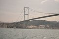 First bosphorus bridge istanbul turkey view of the over the in photo taken from a ship Royalty Free Stock Photos