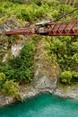 First bungee jump in the world new zealand Stock Image