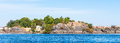 First cataract egypt coastline of the nile river part called aswan Royalty Free Stock Images