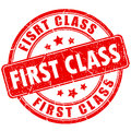 First class rubber stamp Royalty Free Stock Photo