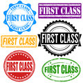 First class stamp set Royalty Free Stock Photo