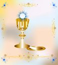 First communion background with characteristic symbols of holy Royalty Free Stock Photos