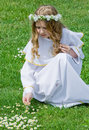 First Communion and daisies Royalty Free Stock Photo
