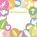First communion invitation card space for text or photo Royalty Free Stock Photography