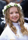 First Communion - smiling gigl Stock Photo