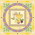 First communion symbolic illustration for the Stock Image