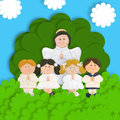 First communion thank you card Stock Photos