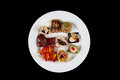 First course in a plate Royalty Free Stock Photo