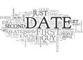 When A First Date Should Be The Last Date Tips To Figure It Out Word Cloud Royalty Free Stock Photo