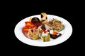 First dish in a plate Royalty Free Stock Photo