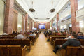 First federal congress on e democracy moscow may in russian state library may in moscow russia Stock Photos