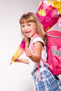 First grader girl Stock Images