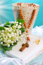 The first holy communion still life Royalty Free Stock Photo