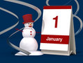 First january calendar Royalty Free Stock Image