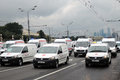 First Moscow Parade of City Transport. Emergency cars Royalty Free Stock Photo