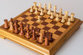 The first move a pawn  on the chess Board Royalty Free Stock Photo