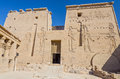 First pylon of philae temple of isis egypt on agilkia island in lake nasser Stock Photography
