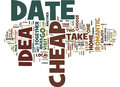 First Rate Cheap Date Ideas Word Cloud Concept Royalty Free Stock Photo
