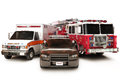 First responder vehicles Stock Photos