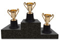 First, Second and Third Place Royalty Free Stock Photo