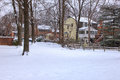 First snow in McLean Virginia Royalty Free Stock Photo