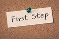 First Step Royalty Free Stock Photo