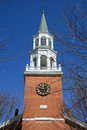 First unitarian church burlington vermont tower of was built in at the head of street as the oldest house of worship in usa Stock Image
