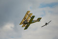 First world war dogfight cosford uk june vintage dogfighting aircraft seen at raf cosford airshow Stock Images
