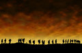 First World War Soldiers Silhouettes Royalty Free Stock Photo