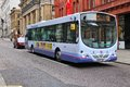 Firstgroup city bus manchester uk april people ride volvo b rle in manchester uk employs people Stock Photography