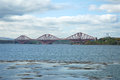 Firth of Forth bridge Royalty Free Stock Photo