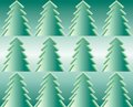 Firtrees, seamless pattern Stock Photos