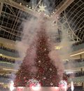 Firworks on Grand tree lighting celebration feat Galleria Royalty Free Stock Photo