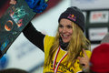 Fis snowboard big air world cup istanbul turkey december ty walker is winner of womans this is first event for both men Stock Image