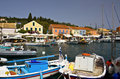 Fiscardo village at Kefalonia, Greece Royalty Free Stock Image