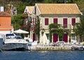 Fiscardo village at Kefalonia, Greece Royalty Free Stock Photo