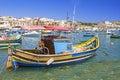 Fischerhafen auf der insel malta Royalty Free Stock Photos
