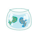 Fish in the aquarium vector illustration Stock Images