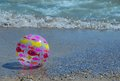 Fish ball on the beach a sunny day Royalty Free Stock Photo