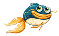 A fish with big eyes illustration of on white background Royalty Free Stock Photos