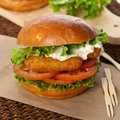 Fish burger Royalty Free Stock Photo