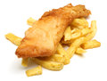 Fish chips fried on top of chunky Stock Photography